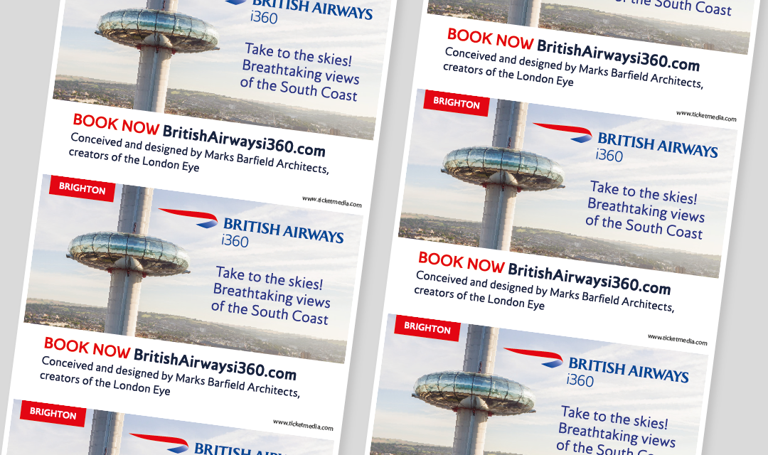 Aiming High – British Airways i360 targets soaring ticket sales with Oyster receipt advertising