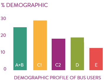 Demographic profile of bus users